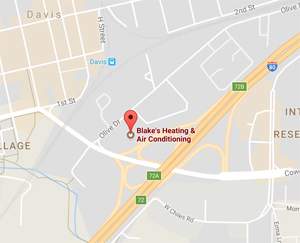 Map to Blake's Heating & Air Conditioning